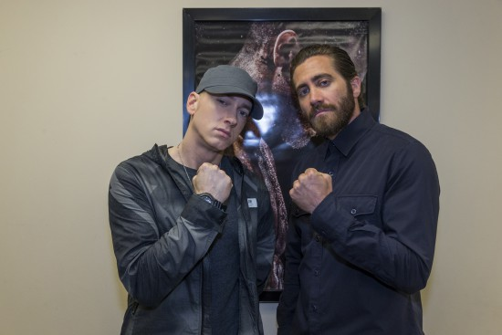 Eminem and Jake Gyllenhaal SOUTHPAW-DETROIT-5402