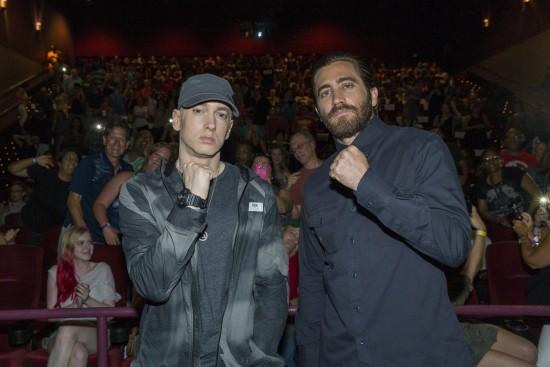 Jake Gyllenhaal иEminem устроили сюрприз для зрителей на предпоказе «Левши»