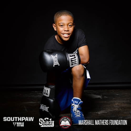 Donate to Downtown Boxing Gym Youth Program and have a chance to win prizes from Eminem and our Southpaw collaboration with TITLE Boxing