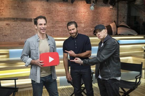 Southpaw-сессия на YouTube Space: Интервью Eminem и Джейка Джилленхола с Jake Levy