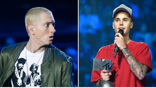Justin Bieber VS Eminem MTV EMA 2015