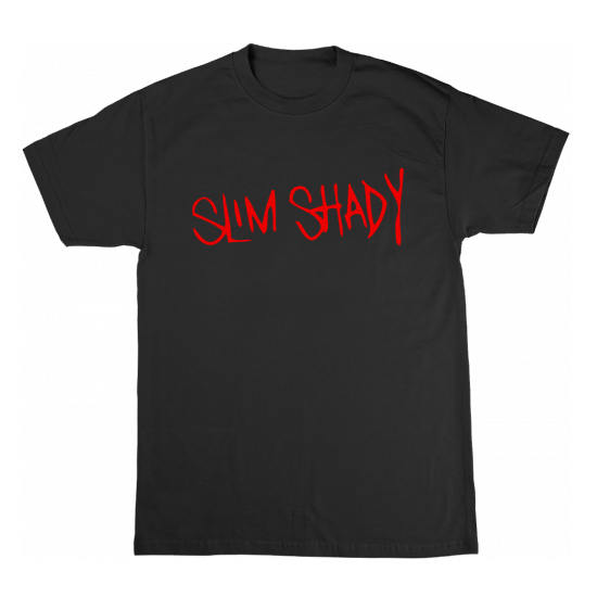 SLIM SHADY T-SHIRT (RED ON BLACK) SLIM SHADY T-SHIRT (RED ON BLACK)