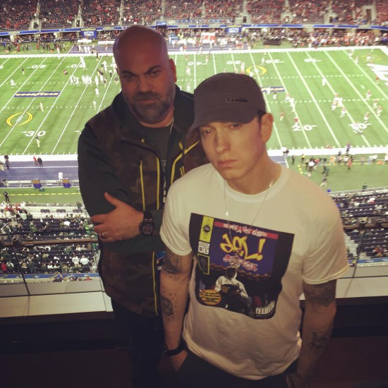 2016.01.01 - Eminem and Paul Rosenberg at Texas Dallas
