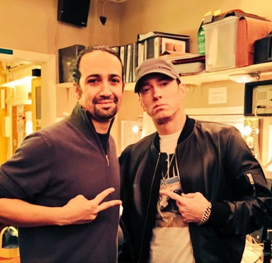 2016.01.31 - Lin-Manuel Miranda and Eminem