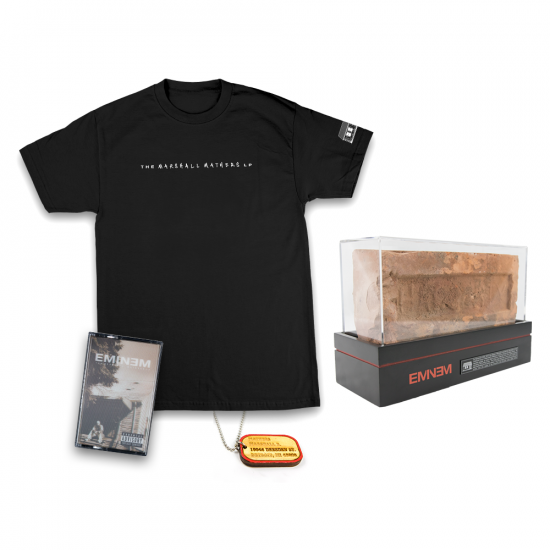 Eminem Authentic Brick x Good Wood Dog Tag x MMLP Cassette x T-shirt