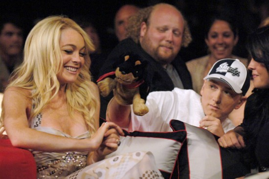 Eminem and Lindsay Lohan, MTV Movie Awards 2005  Shrine Auditorium в Лос-Анджелесе