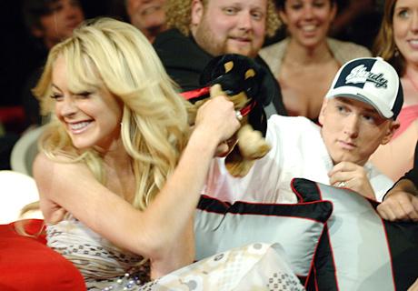 Eminem and Lindsay Lohan, MTV Movie Awards 2005  Shrine Auditorium в Лос-Анджелесе