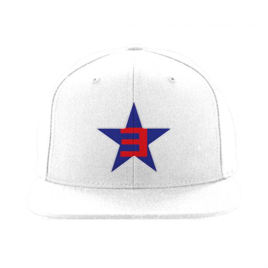 Мне попалась фотография новой бейсболки от Eminem'а с символикой обложки трека «Campaign Speech»