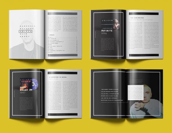 Бразильский дизайнер Mario Caruso выпустил арт-журнал об альбомах Эминема