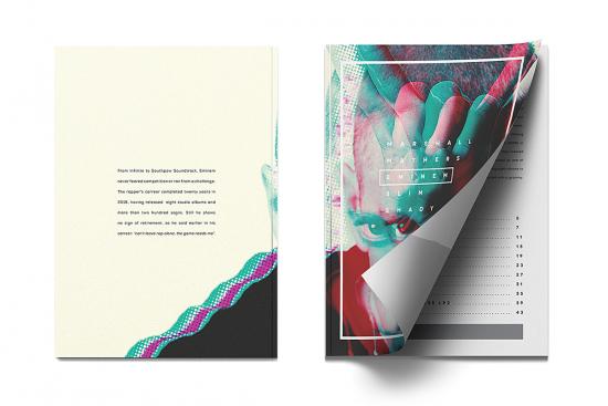 Бразильский дизайнер выпустил арт-журнал об альбомах Эминема