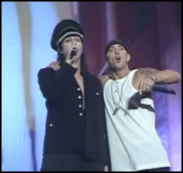 Eminem и Мэрилин Мэнсон Reading Festivals 2001 Carling Weekend