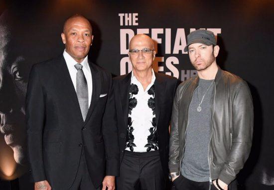 Dr. Dre x Jimmy Iovine x Eminem Defiant Ones LA Premiere.