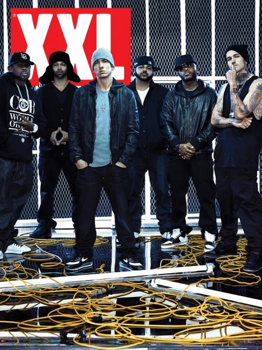 Slaughterhouse и Yelawolf появились вместе с Eminem на обложке журнала XXL в марте 2011 г.