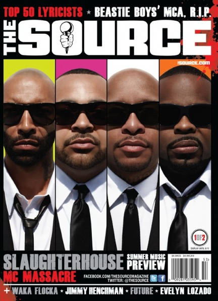 Группа Slaughterhouse на обложке журнала The Source