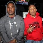 Kendrick Lamar studio pharrell jan 2012