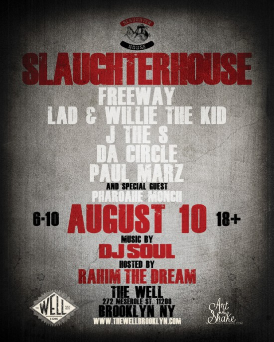 Группа Slaughterhouse выступит в Бруклине