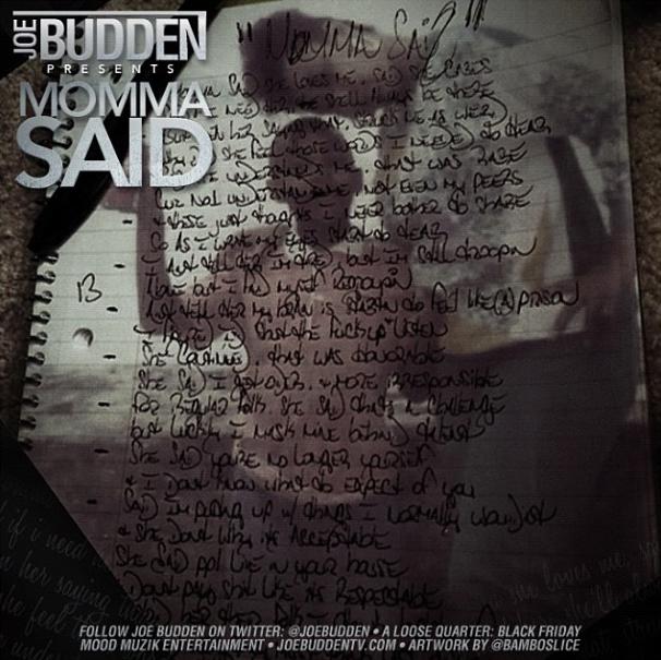 Новый трек от Joe Budden — «Momma Said»