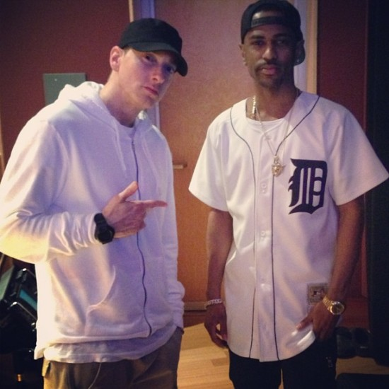 Eminem, Big Sean in studio 26.04.2013