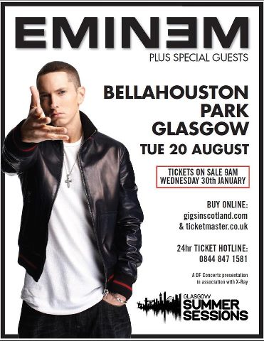 Eminem Glasgow Summer Session 2013