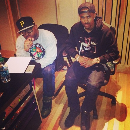 Royce Da 5'9″ and Big Sean in studio 26.04.2013