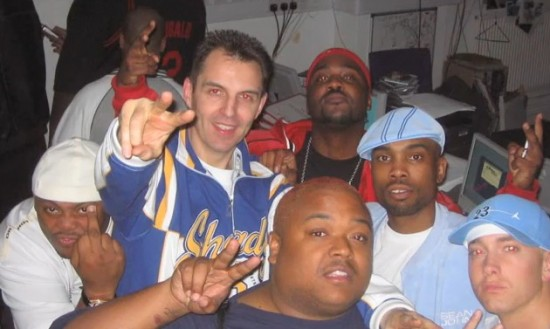Eminem, Proof, D12 and Tim Westwood in 2004