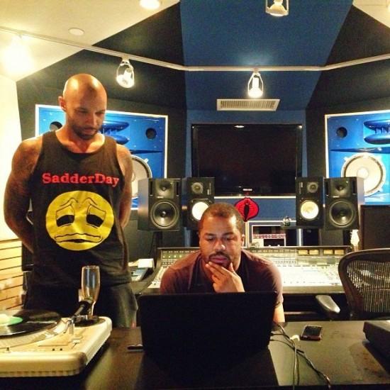 Joe Budden и Just Blaze за работой над новым альбомом Slaughterhouse
