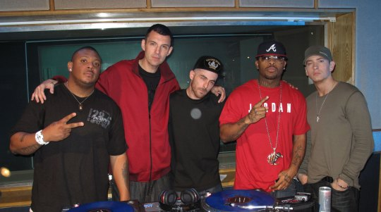 Mr. Porter, Tim Westwood, Alchemist, Royce Da 5'9'' and Eminem