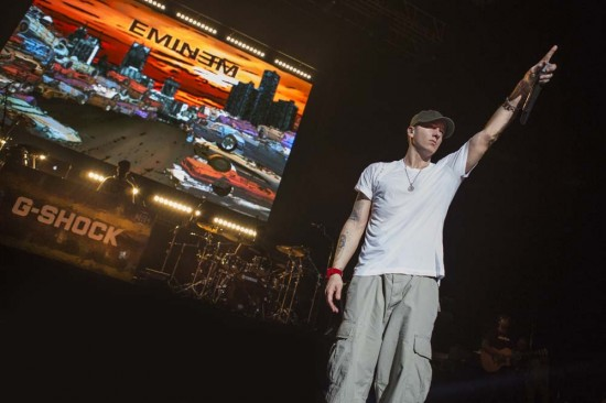 Eminem G-Shock 30th Anniversary Concert in New York 2012