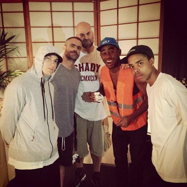 Eminem, Paul Rosenberg, Tyler The Creator, Earl Sweatshirt Paris 2013