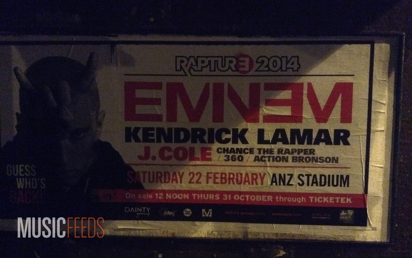 Eminem Rapture 2014 Tour