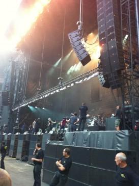 Подготовка сцены Eminem @ Stade de France, Paris