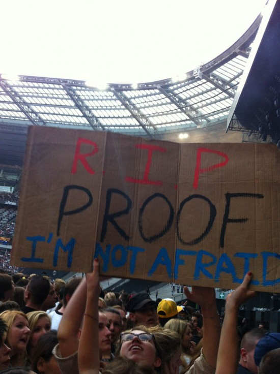 Stade de france RIP PROOF I'M NOT AFRAID