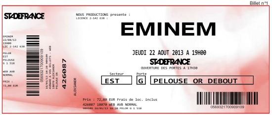 Tiket Stade de France Basenko - Eminem