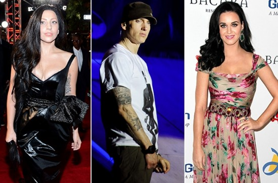 2013.10.30 - Lady Gaga, Eminem, Katy Perry Whose New Male-Female Duet Is Best