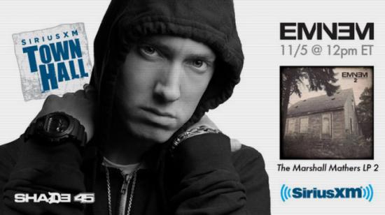 2013.11.05 - Eminem SiriusXM Town Hall