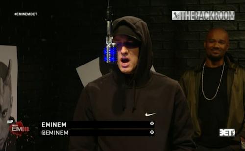 2013.11.06 - Eminem and Slaughterhouse - The Backroom Freestyle (Rap City BET 106 & Park)