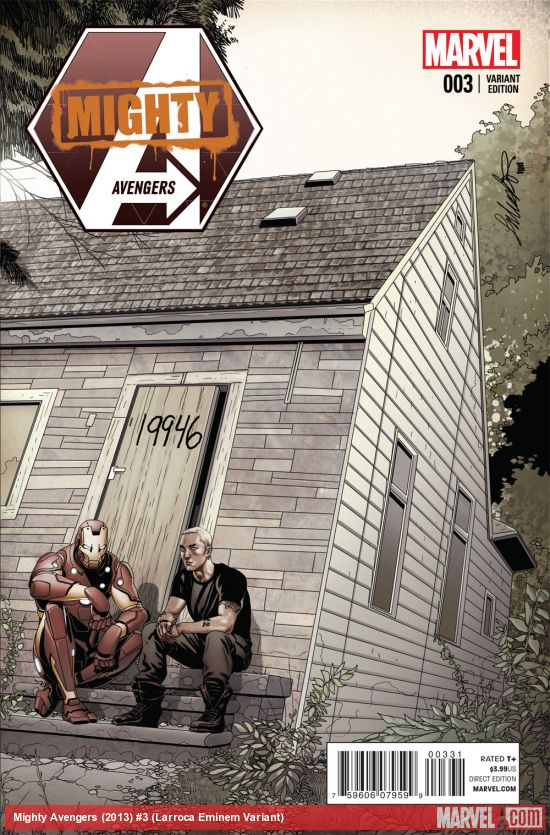 2013.11.07 - Eminem and Ironman at Cover Mighty Avengers #3 Marvel