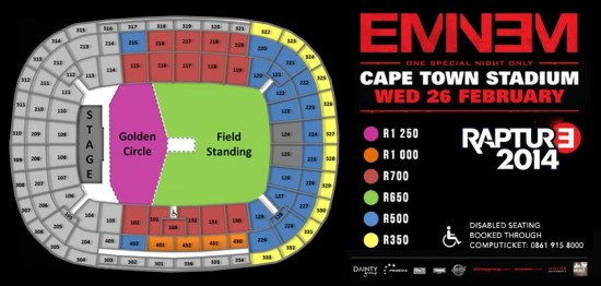 Схема стадиона вКейптауне - 2013.11.19 - Eminem Rapture 2014 show at the Cape Town Stadium