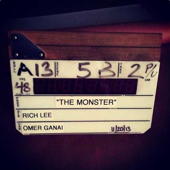 2013.11.20 - Съёмки клипа Eminem and Rihanna The Monster
