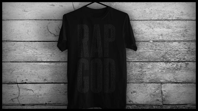 2013.11.29 - Rap God Black on Black T-Shirt Чёрная пятница 2013