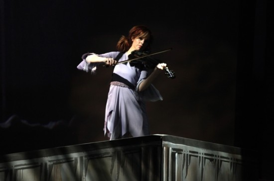 Lindsey Stirling performs at the 2013 YouTube Music Awards, November 3, 2013 in New York City