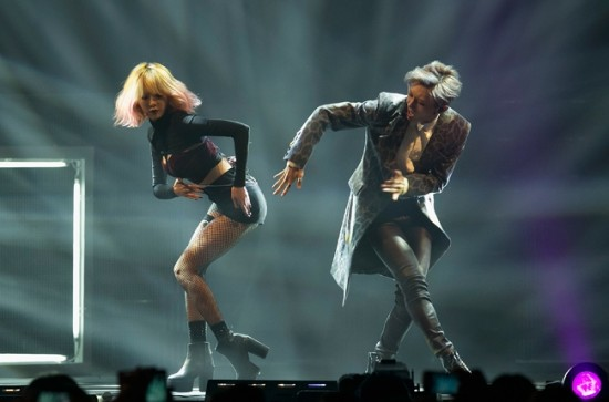 Trouble Maker perform during the 2013 YouTube Music Awards, November 3, 2013 in Seoul, South Korea