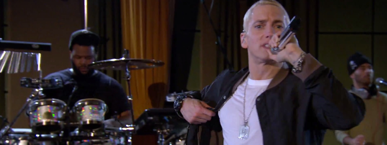 2013.11.30 - Eminem - Not Afraid in session for BBC Radio 1