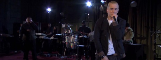 2013.11.30 - Eminem - Survival in session for Radio 1