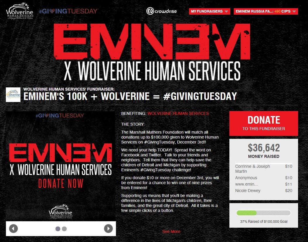 2013.11.03 - EMINEM X SHADY RECORDS #GIVINGTUESDAY