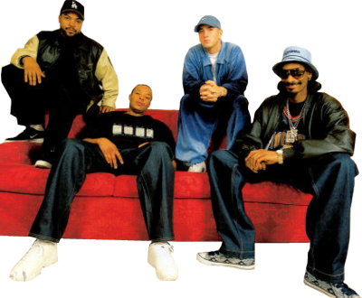 Eminem, MC Ren, Dr. Dre, Snoop Dogg (Snoop Lion), Ice Cube