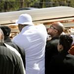 Obie Trice на похоронах Proof