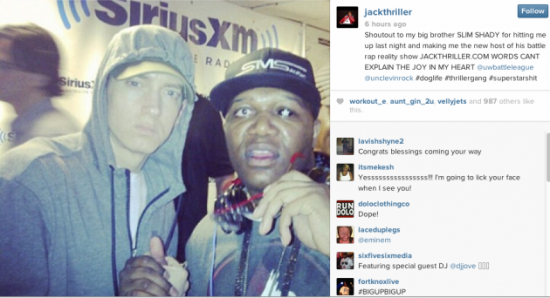 2014.01.17 - Eminem Set To Start Battle Rap Reality Show With Jack Thriller