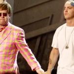 Eminem and Elton John at 2001 Grammy Awards