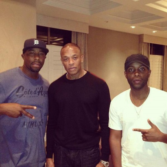 Jon Connor и Dr. Dre в студии